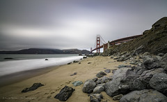 Touching the clouds (ELX_Images) Tags: america california elxphotography goldengate landscape outdoor sanfrancisco beach clouds fog holiday mist nature recreation red rocks sand sea sky water
