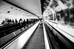 Metro Montparnasse Bienvene (Paris) (FilipNikon) Tags: metro metromontparnassebienvenue paris blackwhite montparnasse