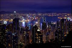 Peak View Hong Kong (Stefan Bock) Tags: skyline china hongkong hongkongisland peak hongkongpeak bluehour blauestunde