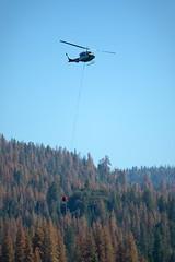 long summer already... (BorrowedLightPhoto) Tags: helicopter fire waterbucket deadtrees sierranevada shaverlake