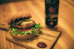 ( Nino) Tags: burger burgers kopparberg cider cyder food porn feed ai nikkor 50mm f12 s film 35mm 35 mm analog manual dof bokeh depth field 50 f12s canon nikon