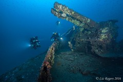 Stern of the HMS Southwold (Liz_Rogers) Tags: featured image ocean diving wrecks malta rebreather revo southwold underwater photography wreck wwii