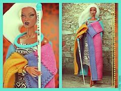 A-Z Challenge: Q - Queen of Africa (MARVEL_DOLLS) Tags: fashionroyalty fr integrity jasonwu goldstrokeadele reroot marvelcomics xmen storm ororomunroe aadoll whitenylonhair princessofsouthafrica barbie dolloutfit ndebele traditional ngurara heritage
