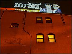 Boston Bull (ski 9) Tags: boston night billboard building brick iphone 1017 thebull country cw ma