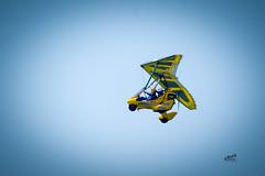 Ultra-lite (Kevin MG) Tags: usa ca losangeles manhattanbeach fly plane airplane yellow blue