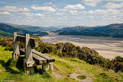 The Mawddach Estuary , North Wales , UK (scarramooch) Tags: north wales view uk nikon d7100 dslr estuary sky bench outdoors outdoor outside mountians landscape