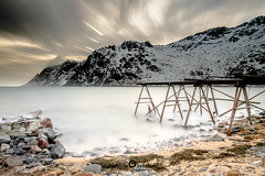 """Lofoten2016-7 (Federico """"Jger"""" Serafini) Tags: norvegia lofoten ghiaccio rocce rocks norway aurora boreale northern light clouds nuvole sea spiaggia long exposure"""