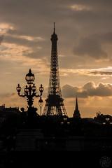 Sunset Pont Alexandre III (g.viegas) Tags: paris eiffel sunset sepia france