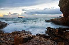 La Costa (lagunadani) Tags: paisaje atardecer benidorm puestadesol sonya7 costa mar mediterraneo nubes isla acantilados alicante