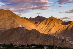Blessing the Town! (Kajin_k) Tags: landscape ladakh leh india kashmir mountain mountains monument monastry monastery sunset clouds