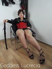 1FindomGoddessLucrecia (madam.lucrecia1) Tags: latex rubber brunette mistress domina dominatrix czech curvy bbw fetish pantyhose corset corsage kinky kink