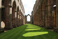 Fountains Abbey Nave (ir0ny) Tags: fountainsabbey nationaltrust studleyroyalwatergardens studley watergardens abbey ruin medieval nave shadow