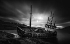 Ardgour Shipwreck - Scotland (Dave Holder) Tags: scotland mono blackandwhite longexposure landscape leefilters leebigstopper canon canon70d canonefs1022mm shipwreck