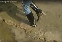 STIEFEL SCHLAMM Matsch (heelrubberboots) Tags: muddy mud messy mackintosh stiefel shiny heels heeled heelrubberboots schlamm matsch