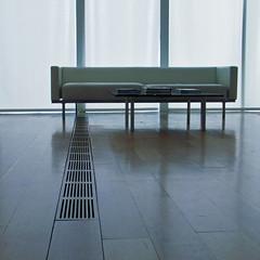 blue alcove (weltreisender2000) Tags: sofa table books lines floor vent window light high art museum atlanta minimal