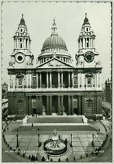 1316 R London St. Paul's Cathedral Dorici 13. II. 1956. Lansdowne Publishing Co. LTD London LP 407 a (Morton1905) Tags: 1316 r london st pauls cathedral dorici 13 ii 1956 lansdowne publishing co ltd lp 407