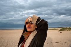 Performance by ... Soraya (johann walter bantz) Tags: soraya plagenormandie normandy feminin fashion plage beach sea performance portrait nikon d4 coluds color