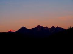 Sunset over Mount Baker and Twin Sisters Mountain (jaisril) Tags: twinsistersmountain northcascades mountbaker sunset
