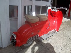 1955 Zundapp Bella 200 (occama) Tags: mff569 zundapp bella 200 scooter old rare vintage red german cornwall uk classic 1955