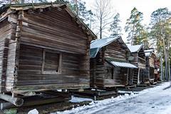 Storehouses (Jori Samonen) Tags: old wooden storehouse winter snow tree seurasaari island outdoor openair museum helsinki finland nikon d3200 180550 mm f3556 nikond3200 180550mmf3556
