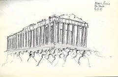Acropolis (Andrs Goi :: www.andresgoni.cl) Tags: sketch croquis dibujo arquitectura lapiz mano handwrite architecture europa inglaterra england london train tren italy italia florencia firenze sienna