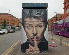 AKSE (BE'N 59. Street photographer) Tags: streetart manchester akse david bowie