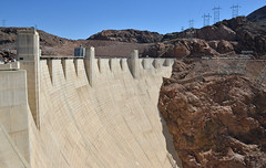 Top of Hoover Dam (dr_marvel) Tags: dam water bridge hoover electricity hydroelectric nevada arizona structure concrete cement