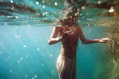 E. (georgekamelakis) Tags: georgekamelakis greece greek model mermaid underwater dicapac dress color blue woman nikon light emotive emotion cinematic crete hand