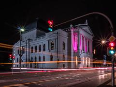 Staatstheater Oldenburg - International Girl's Day (H-1) Tags: theater pink longexposure night girlsday oldenburg