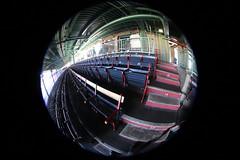 Old seats at Fenway Park. Shot through a fisheye lens. (apardavila) Tags: ballpark baseball boston bostonredsox fenwaypark fisheyelens majorleaguebaseball mlb sports stadium