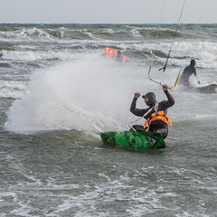 Slam! (astielau) Tags: brandung damp kitesurfing