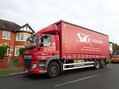 YT64EAM SIG Insulation on Dunes Avenue in Blackpool (j.a.sanderson) Tags: yt64eam siginsulation dunesavenue blackpool daf cf 290 dafcf truck trucks