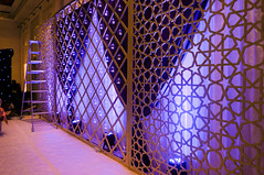 Backdrop Frame (Purrple Orryx) Tags: weddings wedding engagement setup ceremony fabrication staging backdrop decor decoration centrepc florals arch lighting av technical production jumeirah madinat 2016 october