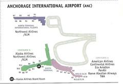 Alaska ANC diagram, December 1999 (airbus777) Tags: alaskaairlines as airport diagram map terminal anchorage anc
