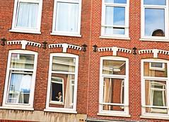 Amsterdam (kirstiecat) Tags: amsterdam windows architecture netherlands dutch stranger woman people canon street