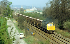 25192 plods along with an ICI train for Northwich (delticfan) Tags: 25192 class25 ici icihoppers cheadlejunction type2