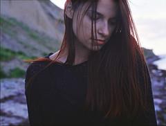 (Juliet Alpha November) Tags: fuji fujicolor pro 160 ns analogue analog film mittelformat medium format 645 portrait portrt face gesicht hair haar bokeh silence stille model salvaje jan meifert
