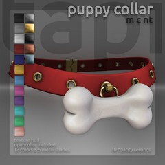 tapi :: puppy collar (tapi :: original mesh) Tags: second life tapi original mesh romp collar puppy pup doggy pet play bone choker ds bdsm sub slave rlv