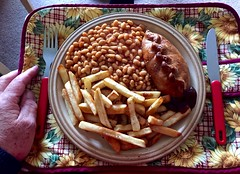 Lunch 175-365 (10) ( Georgie R) Tags: lunch pastie beans chips hpsauce