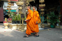 moines Phnom Pehn cambodge_2713 (ichauvel) Tags: voyage orange photo asia cambodge cambodia walk couleurs buddha monks travail asie palaisroyal marche moines royalpalace boudha phnompehn