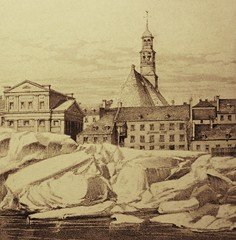Montral, vers 1850. La chapelle Notre-Dame de Bonsecours. (DubyDub2009) Tags: art church architecture montral archive qubec histoire oldmontreal glise vieuxmontral notredamedebonsecours ruedelacommune portdemontral