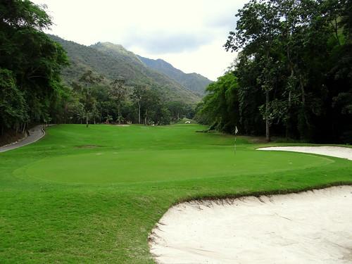 Inicio del campo de golf