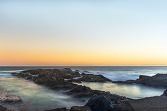 Nature's pool (banphotography) Tags: ocean longexposure sea outcrop seascape sunrise reflections landscape dawn rocks daybreak rockpool goldcoast snapperrocks rainbowbay d800e