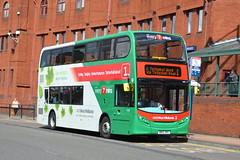National Express West Midlands AD Enviro 400H 5418.BX13JPU - Wolverhampton (dwb photos) Tags: bus alexander dennis hybrid westmidlands enviro nationalexpress wolverhampton decker 5418 bx13jpu