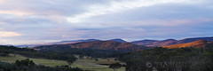 Has Flickr gone over the hills? (tiabunna) Tags: trees sunset panorama mountains pentax australia nsw snowball stitched k30