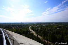 View from an old water tower (VisaStenvall) Tags: ocean old blue summer sky tree tower water canon espoo suomi finland eos restaurant helsinki woods view sunny usm 1740mm 6d f4l haikaranpes
