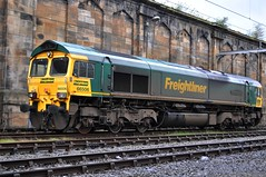 Freightliner's 66 506 at Carlisle. (Raymondo166) Tags: diesel no 66 class next crewe locomotive 506 awaiting carlisle named regeneration freightliner duties