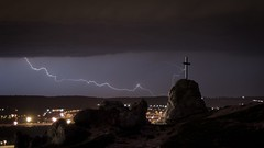 Praise You in this storm (szzmet) Tags: cloud storm squall rocks cross hill line lightning thunder praise
