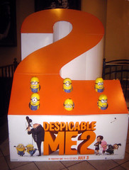 Despicable Me 2 Whack A Mole Minion Game Standee  0192 (Brechtbug) Tags: street new york city nyc 2 two game me yellow computer movie poster theater with theatre cartoon billboard lobby animation critters amc mole 34th whack gru sequel despicable minion standee henchmen standees 2013 a 05202013