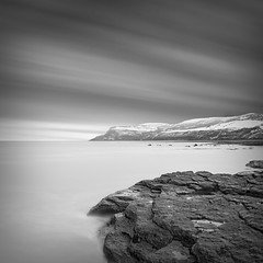 Boggle Hole (Ian-Barber Photography) Tags: longexposure square mono coast seaside rocks whitby eastcoast bogglehole ianbarber 08uk longexposureblackandwhite
